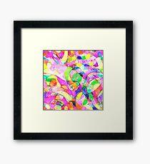Colorful Water Color Design Framed Print