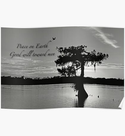 Peace on earth . . . Good will toward men Poster