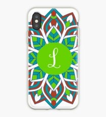 MANDALA MULTICOLORE INITIALE WITH CHOICE iPhone Case