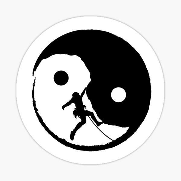 Rock Climbing Yin Yang: Cool Rock Climbing Graphic Sticker Sticker