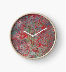 RED AUTUMN Clock