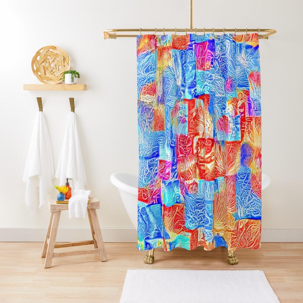 Light bright energy Shower Curtain