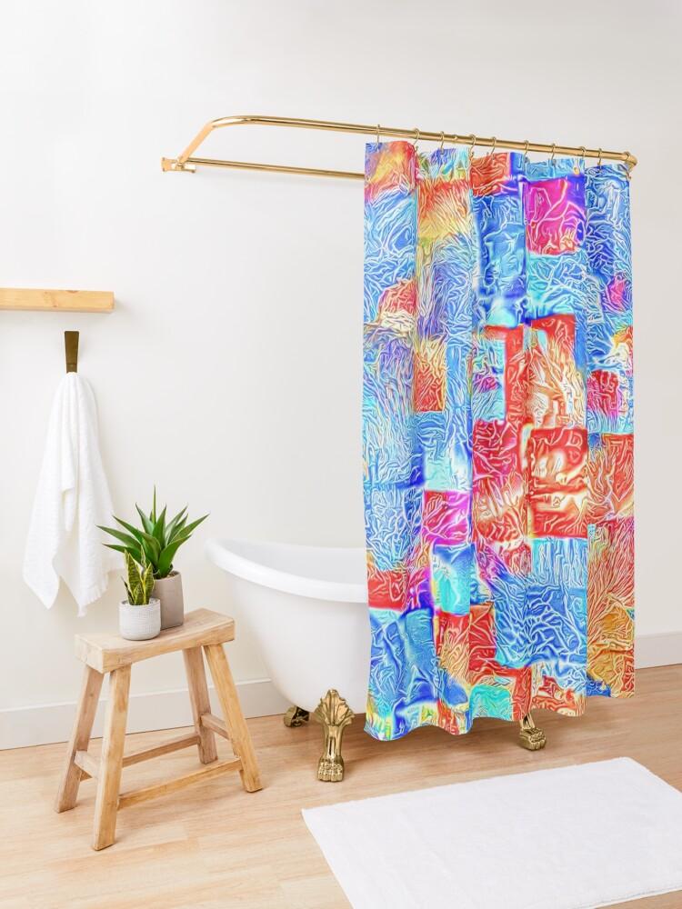 Alternate view of Light bright energy Shower Curtain