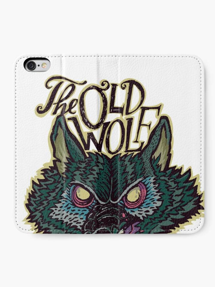 Alternate view of Head Old Wolf iPhone Wallet