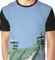 green tin roof with two pipes Graphic T-Shirt