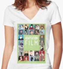 Adaptation Film Alphabet Women's Fitted V-Neck T-Shirt