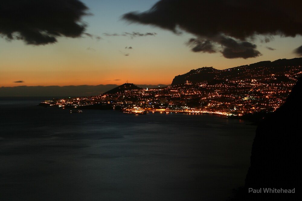 maderia at night by Paul Whitehead