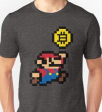 Bitcoin Mario Slim Fit T-Shirt