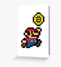 Bitcoin Mario Greeting Card