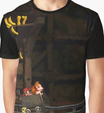 Donkey Kong Country - Mine Cart Carnage Graphic T-Shirt