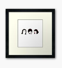 Pulp Fiction Minimalistic Silhouettes Framed Print