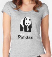 pandas Women's Fitted Scoop T-Shirt