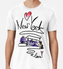 Camiseta premium para hombre Love New York