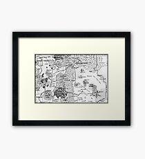 RQ2 DRAGON PASS AND PRAX Map Framed Print