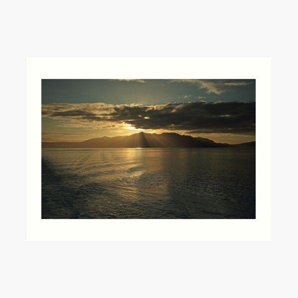 Isle of Arran at Sunset Art Print