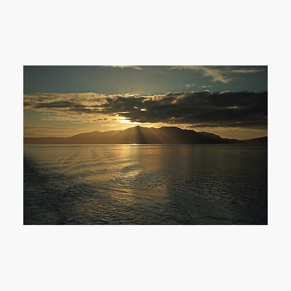 Isle of Arran at Sunset Photographic Print