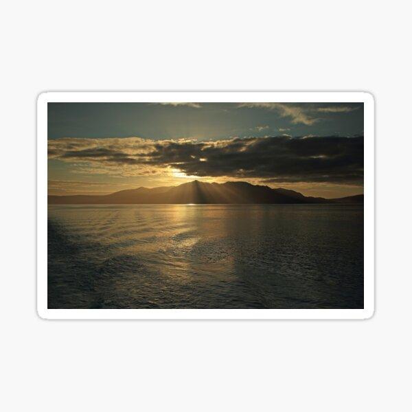 Isle of Arran at Sunset Sticker