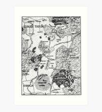 RQ2 DRAGON PASS Map (pairs with RQ2 PRAX Map) Art Print