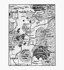 RQ2 DRAGON PASS Map (pairs with RQ2 PRAX Map) Photographic Print