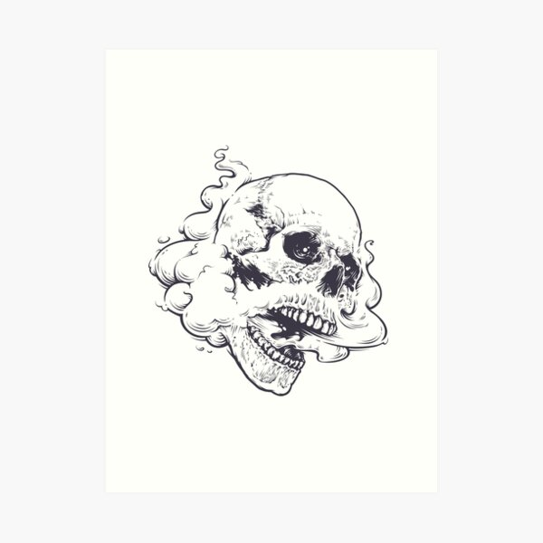 Vaping Skull Art Print