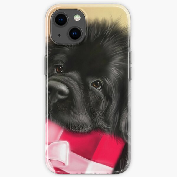 Newfie face with present  iPhone Soft Case
