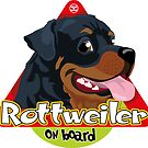 Rottweiler On Board by DoggyGraphics