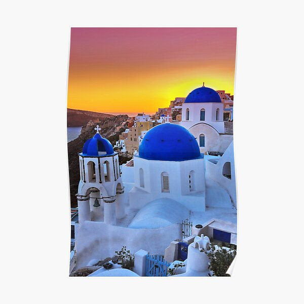 1749 Oia sunset - Santorin Poster
