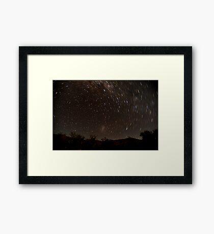 Startrail in outback Australia Framed Print