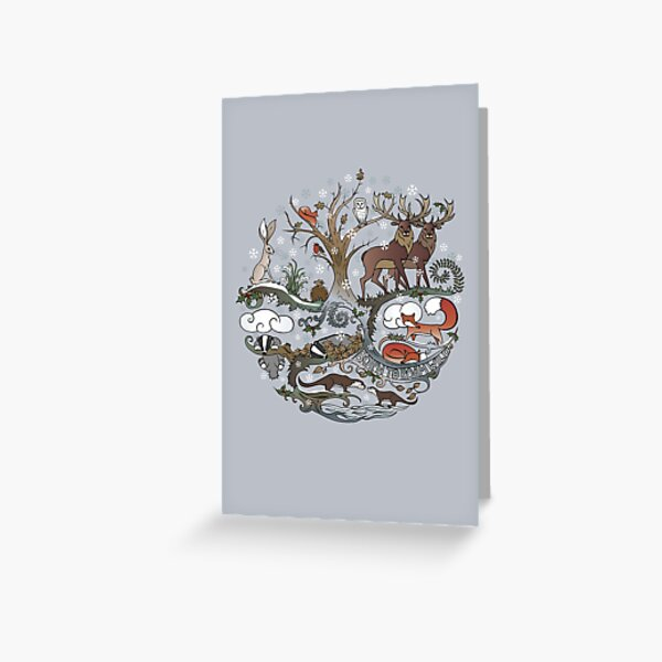 Born to Roam Wild in Winter Greeting Card