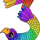 Colourful Bird Number 3 by Shelly Still