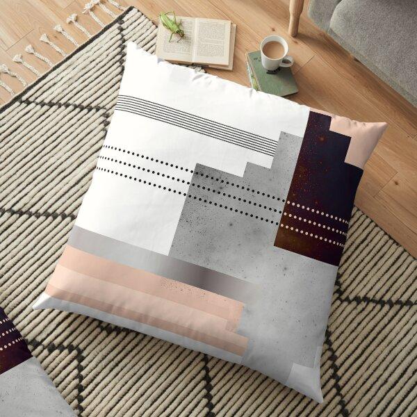 Geometric Dot Stripe Gradient Speckled Polygon Texture Floor Pillow