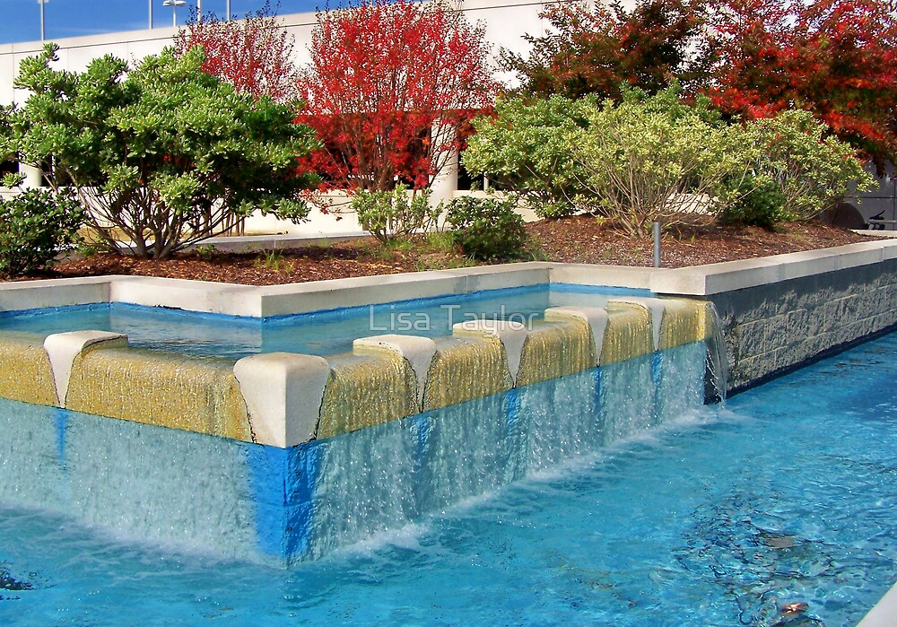 Blue Fountain by Lisa Taylor