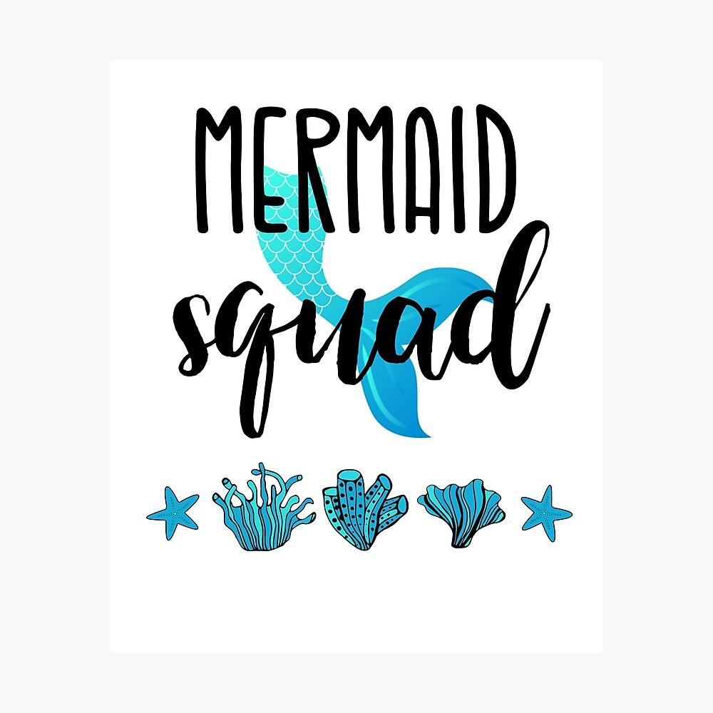 Long Line Of Mermaids Girls Fitted T-Shirt Fun Beach Magical Gift