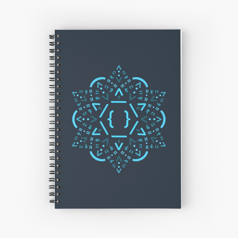 Code Mandala - React Framework Spiral Notebook