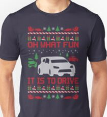 Rally Car Race Christmas Unisex T-Shirt
