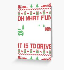 Rally Car Race Christmas Greeting Card