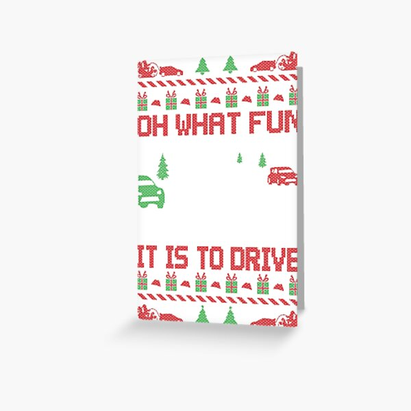 Rally Car Race Christmas Greeting Card