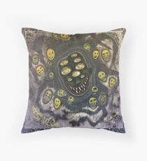 #smile The Social Media Monster - Painting on Canvas Floor Pillow