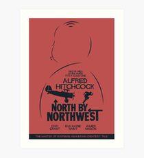 North by Northwest, Hitchcock, movie poster, alternative, thriller, minimal, Intrigo Internazionale Art Print