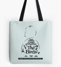 The Birds, Hitchcock Movie Poster, Horror Film, Classic Movie, Old Movie, Gli Uccelli Tote Bag