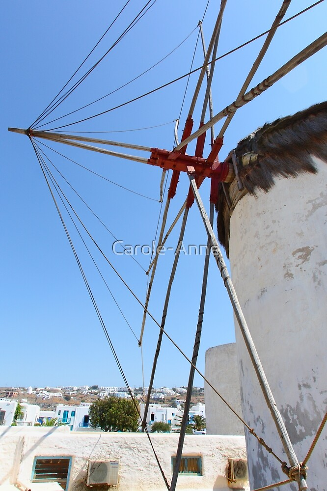 Traditional Windmills on Mykonos by Carole-Anne