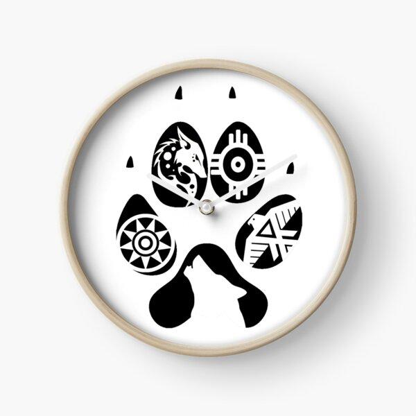 Paw Print Clock