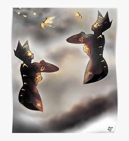 Free Robots of Pepper-Pot Land [Digital Fantasy Illustration] Poster