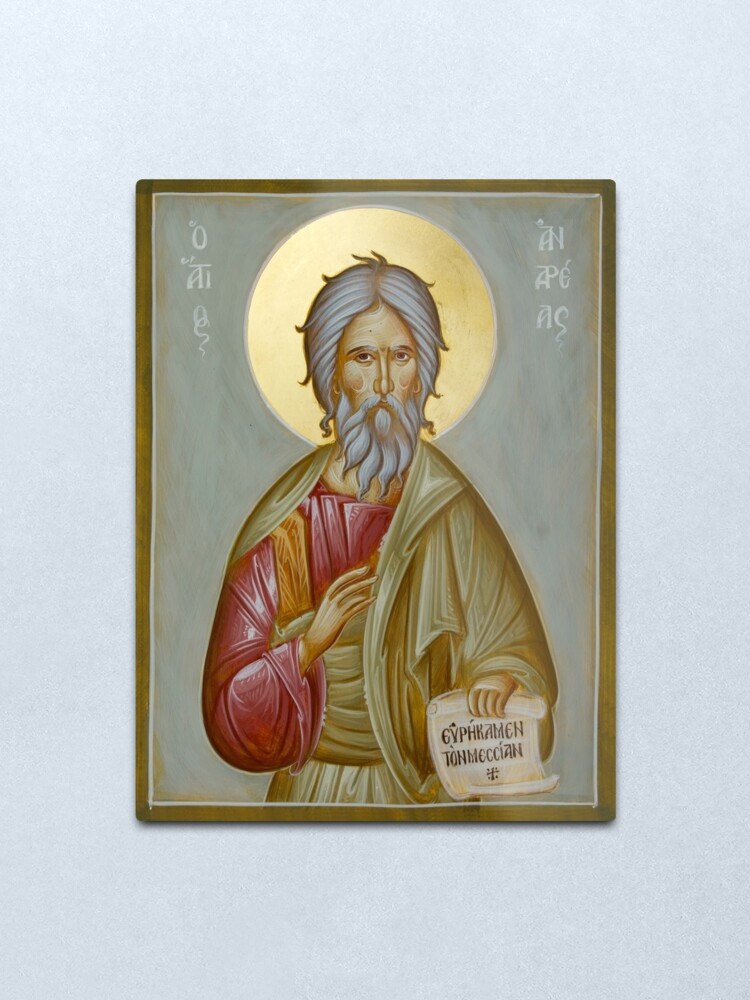 Alternate view of St Andrew the Apostle and First-Called Metal Print
