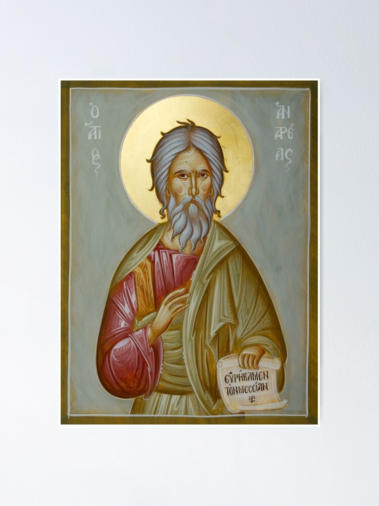 Alternate view of St Andrew the Apostle and First-Called Poster