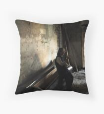Edge of Her Coffin Throw Pillow