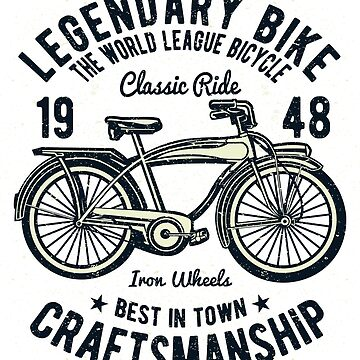 Legendary Bicycle T-Shirt by webeller