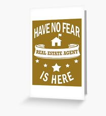 Real estate agent mom greeting cards redbubble real estate agent have no fear birthday greeting card m4hsunfo