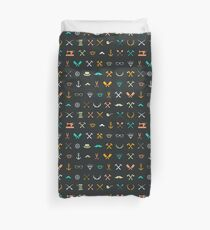 Hipster Seamless Pattern Duvet Cover