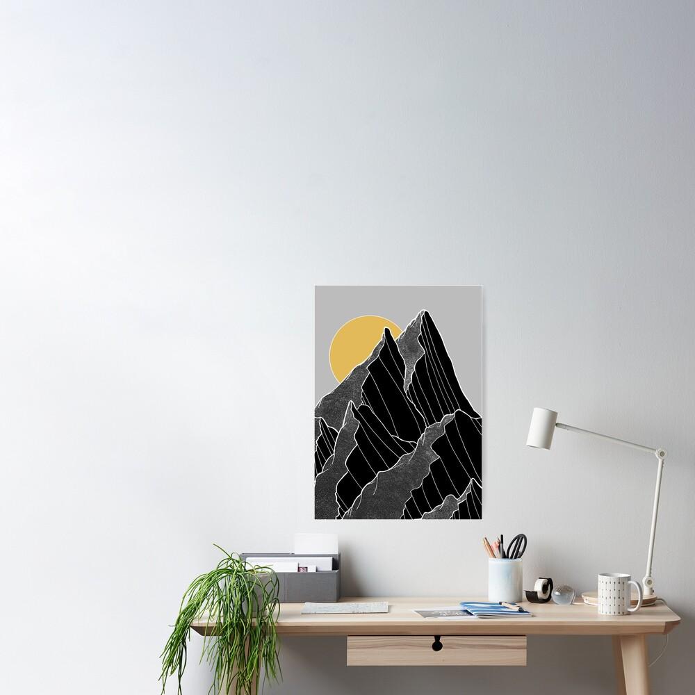 The dark peaks under the golden sun Poster